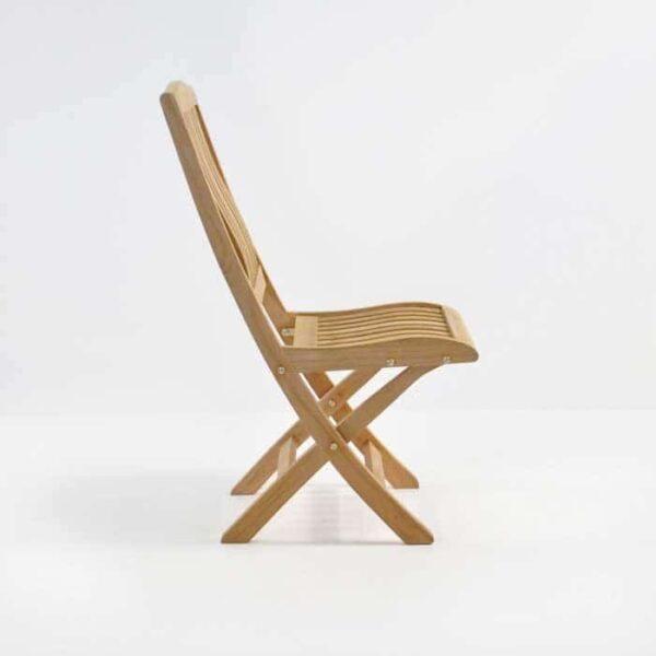 Como Teak Folding Dining Side Chair-3739
