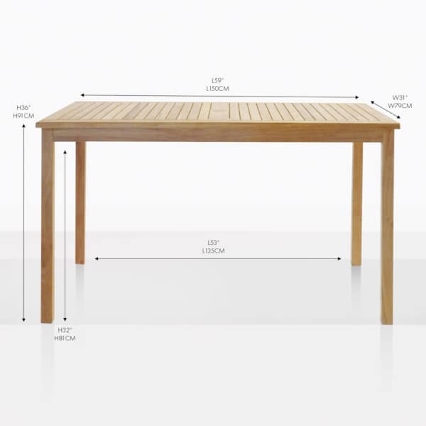 teak counter table
