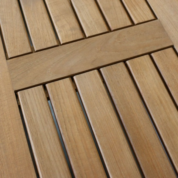 credenza bar table large in closeup view