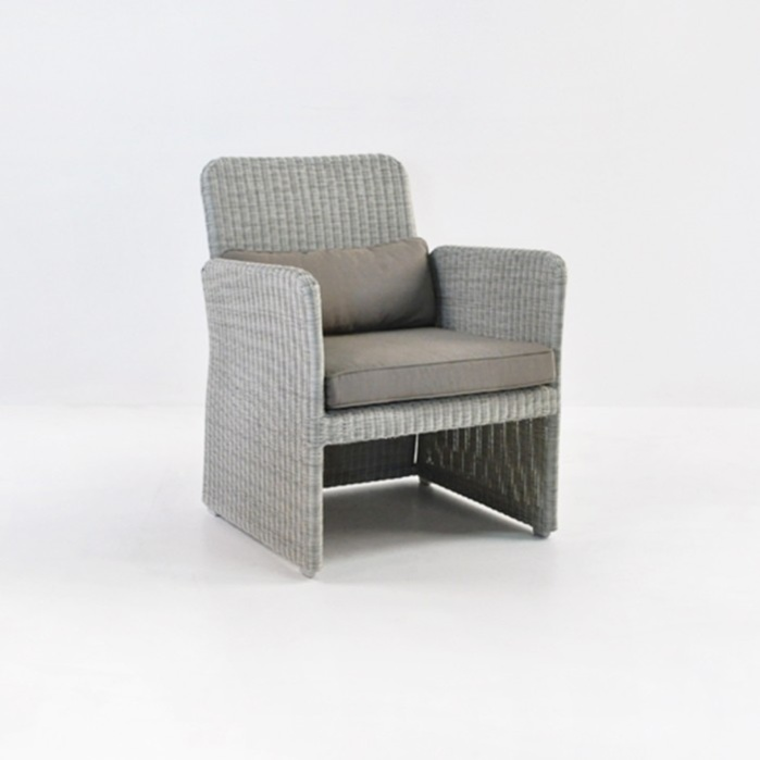 Cube Outdoor Wicker Club Chair (Stonewash)-0