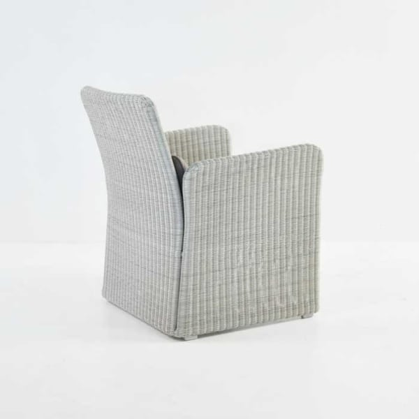 cube wicker club chair back