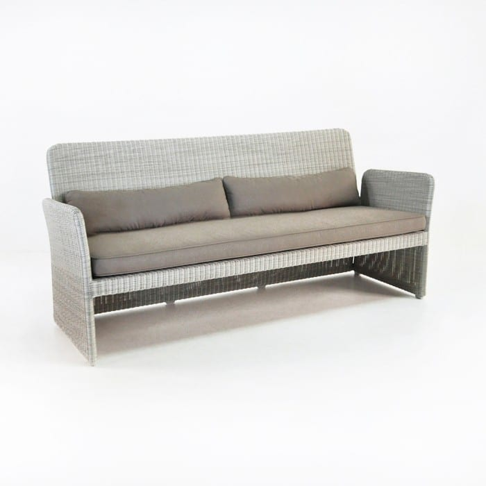 07de19d2ca5 Cube Modern Outdoor Wicker Sofa (Stonewash)