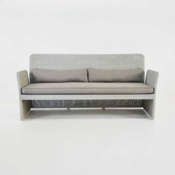 cube outdoor wicker sofa front
