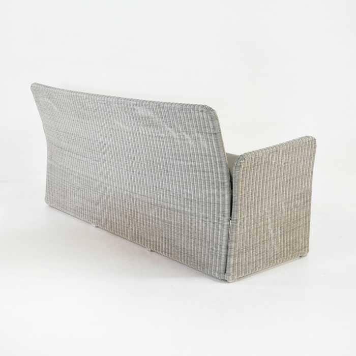 Cube Modern Outdoor Wicker Sofa Stonewash Patio Couch