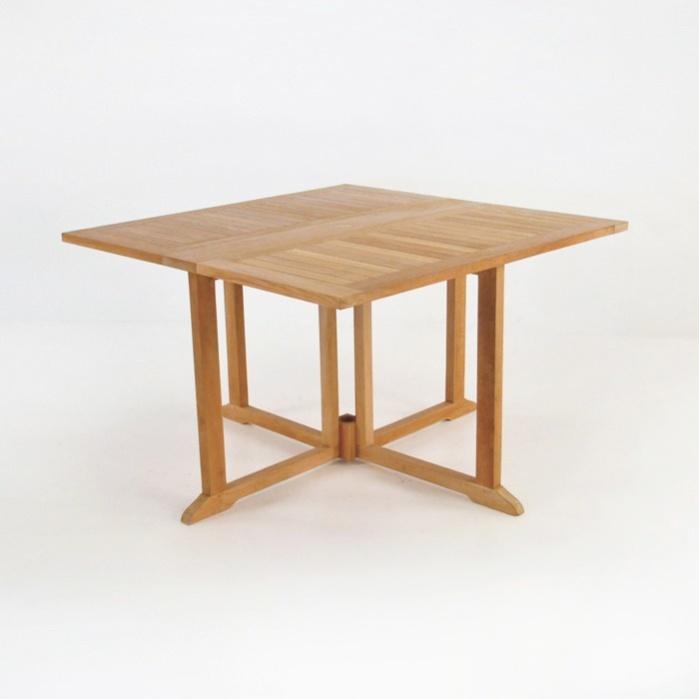 Square Teak Dining Drop Leaf Table-0