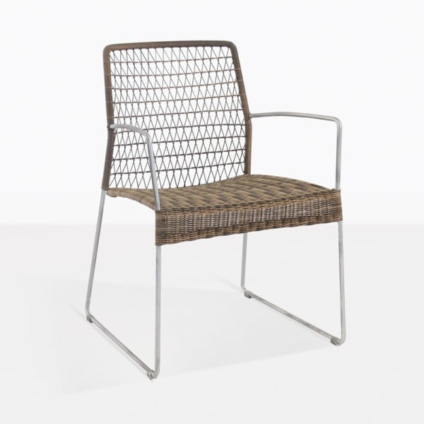 Edge Wicker Dining Arm Chair