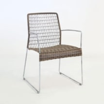 Edge Wicker Dining Arm Chair (Sampulut)-0