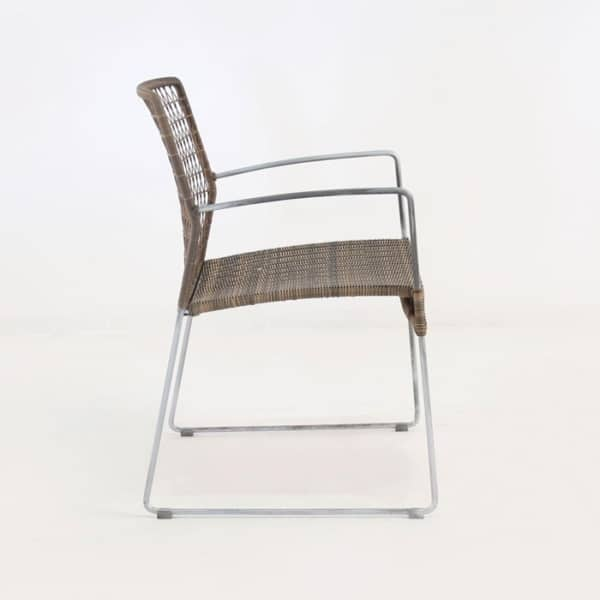 arm chair steel frame sampulut
