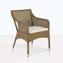 Ellen Wicker Dining Chair With Cushion