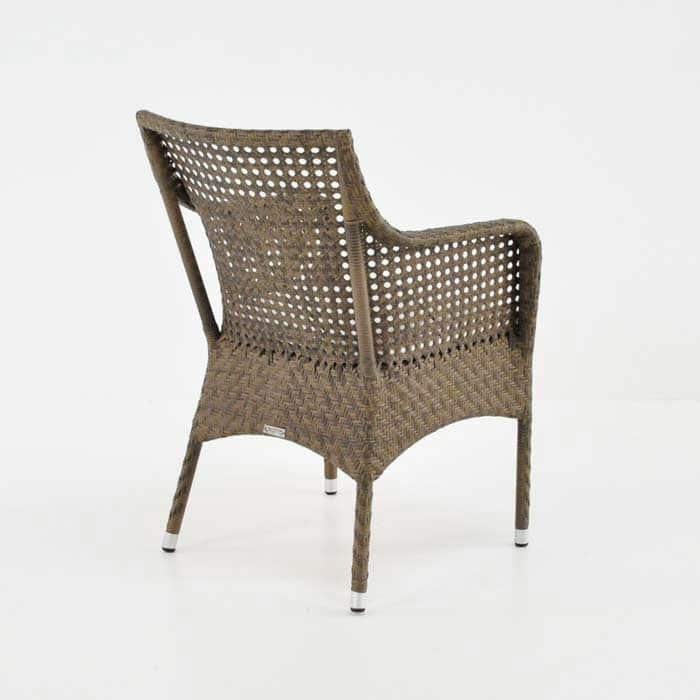 Ellen Wicker Dining Chair Sand Outdoor Patio Seating