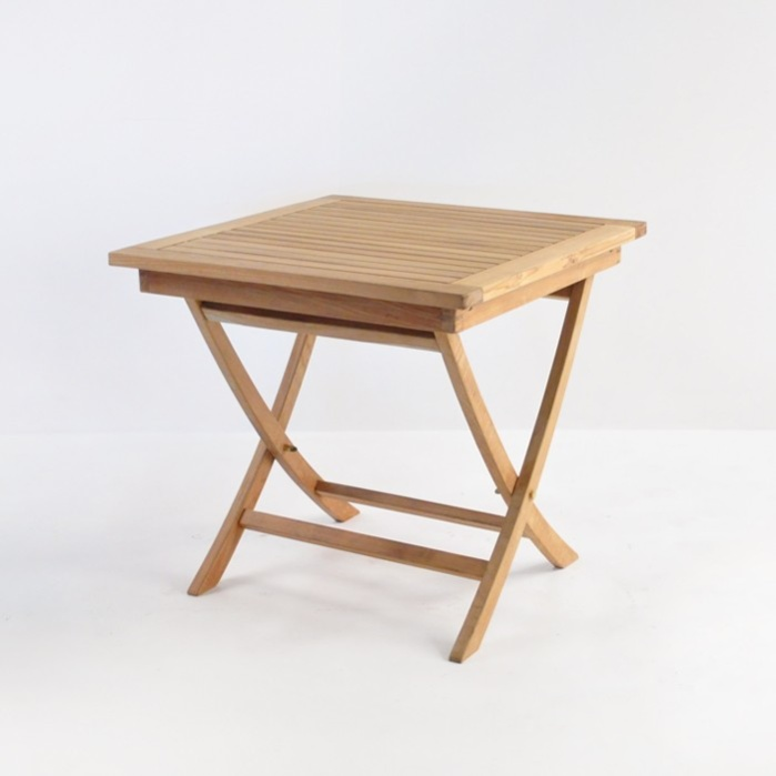 "Square Teak Folding Table 31""-0"