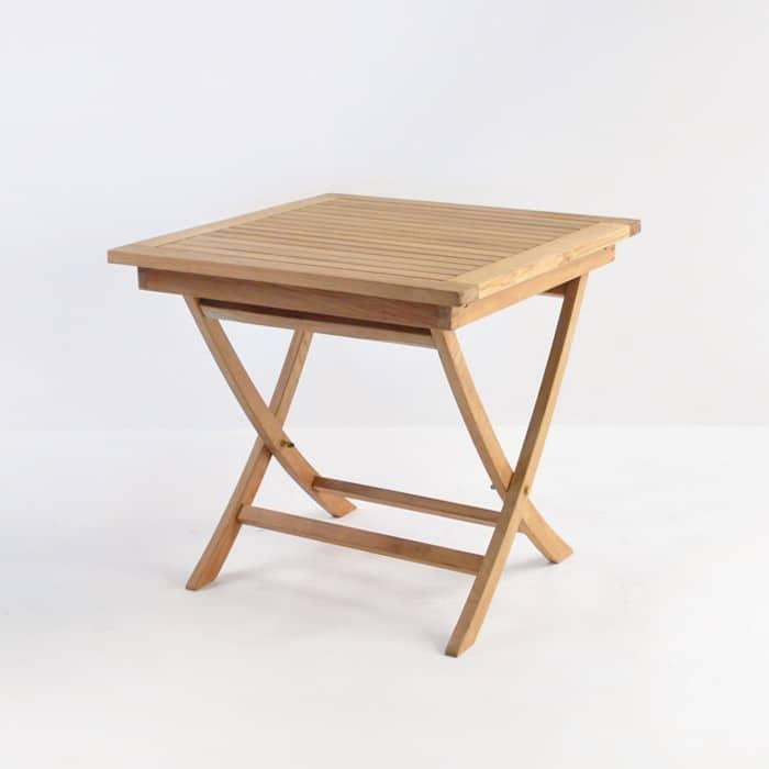 square teak folding table 31 outdoor dining furniture. Black Bedroom Furniture Sets. Home Design Ideas