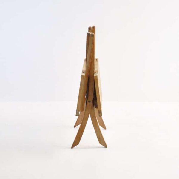 folding square teak table (bag table) folded