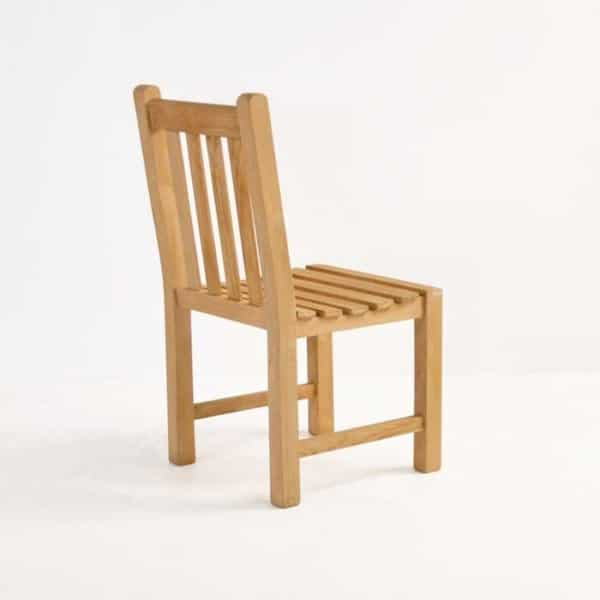 garden teak dining side chair back