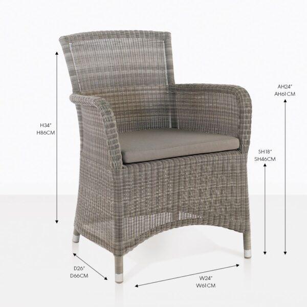 gilbert wicker outdoor dining chair