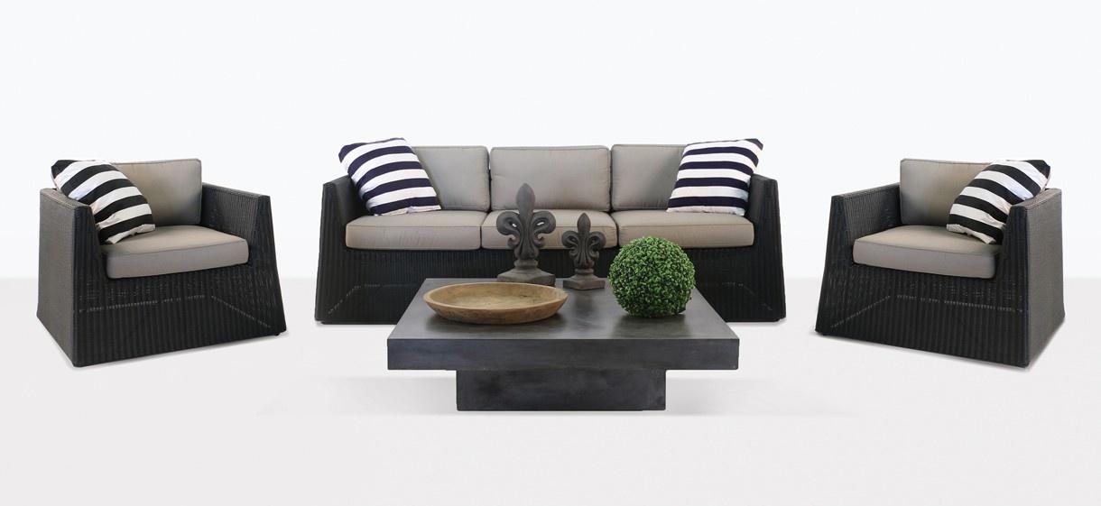 Giorgio Wicker Sofa and Club Chair
