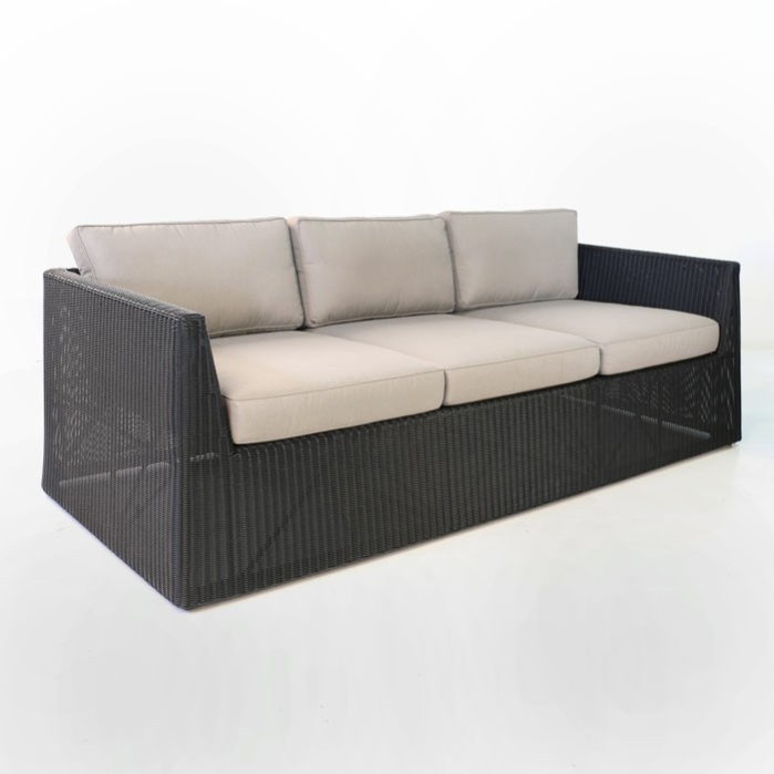Giorgio Outdoor Wicker Sofa (Black)-0