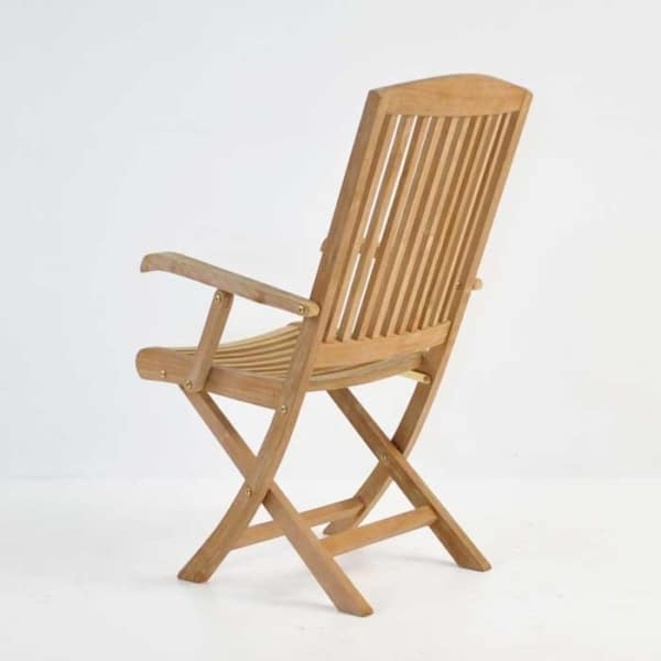 halimah folding teak dining chair back