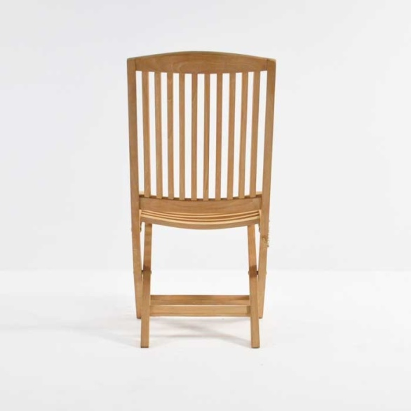 hallimah folding side chair back view