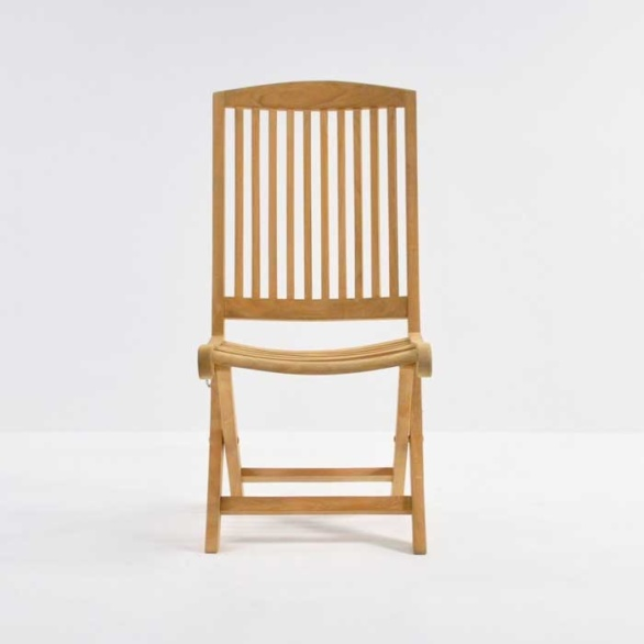 hallimah folding side chair front view