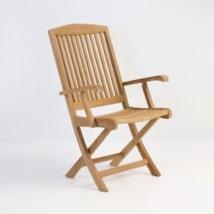 Halimah Teak Folding Dining Arm Chair-0