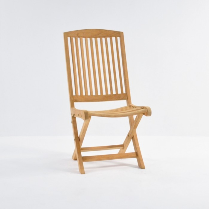 Halimah Teak Folding Dining Side Chair-0
