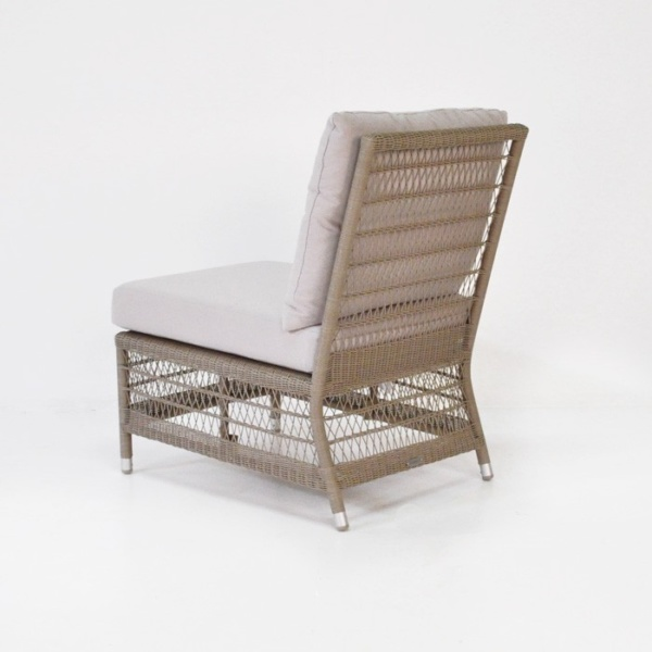 hampton armless wicker chair back