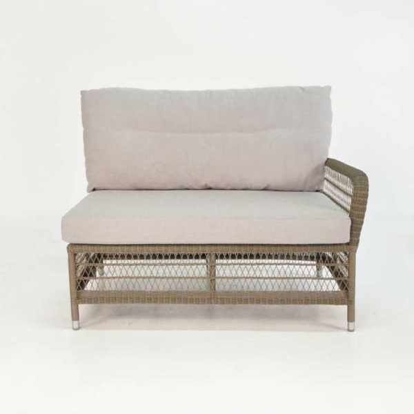 hampton left arm loveseat front