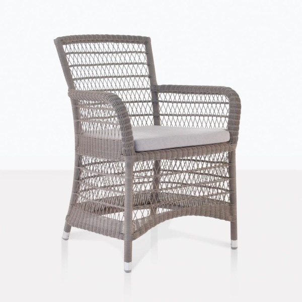 Hampton Wicker Dining Arm Chair