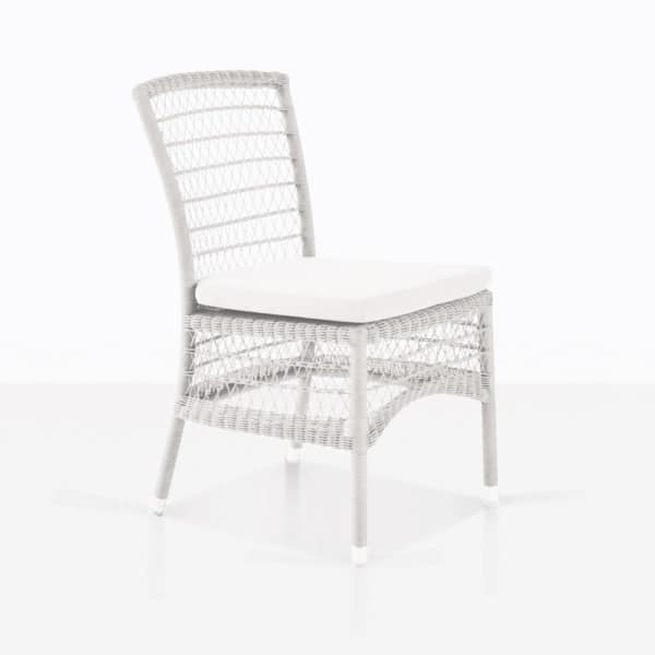 Hampton White Wicker Dining Chair