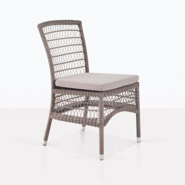 Hampton Light Brown Outdoor Wicker Dining Chair