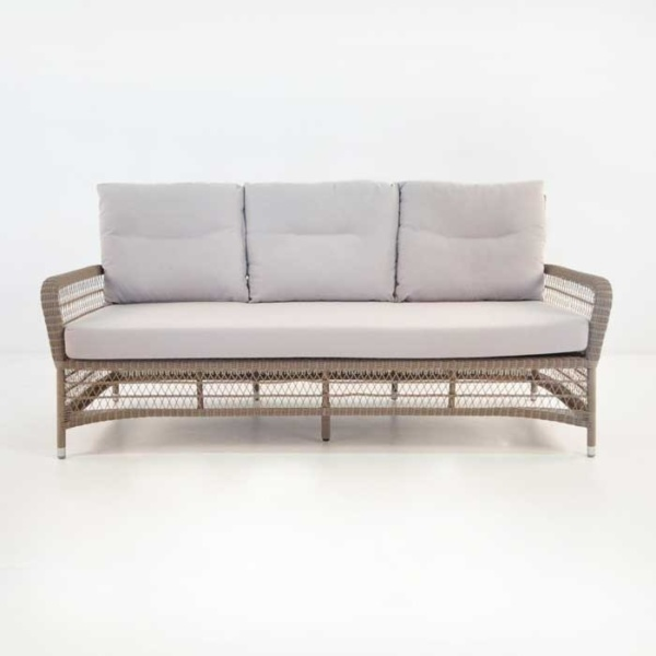 Hampton Wicker Sofa front