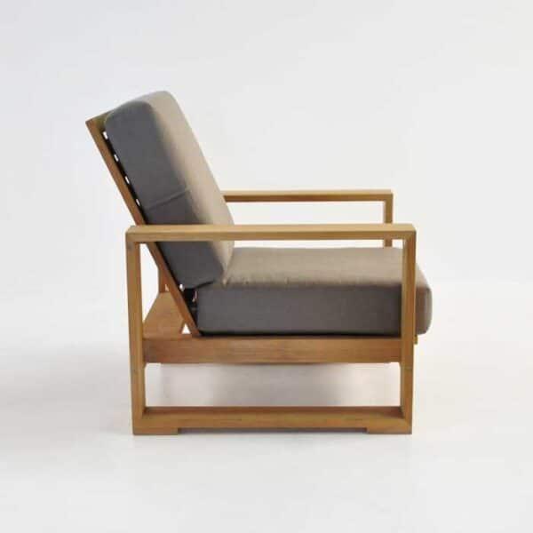 havana teak outdoor club chair side view