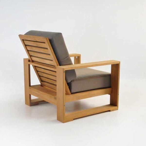 havana teak outdoor club chair back view