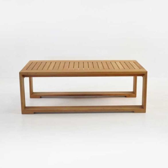 havana teak coffee table side view