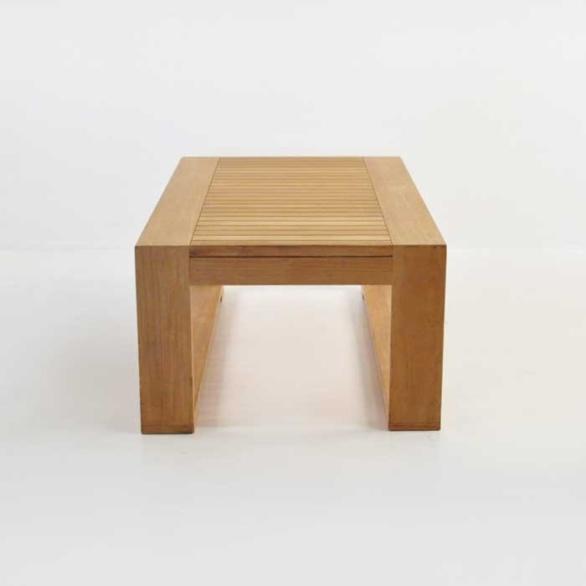 havana teak coffee table end view