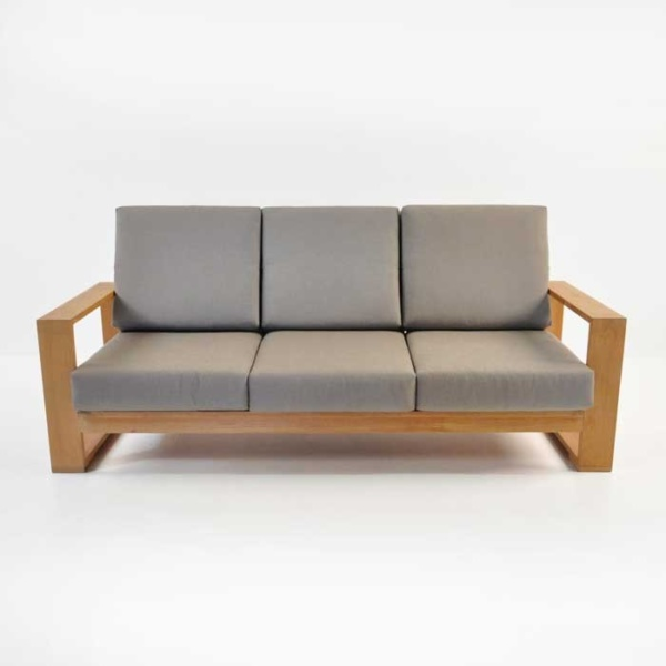 havana teak outdoor sofa front view