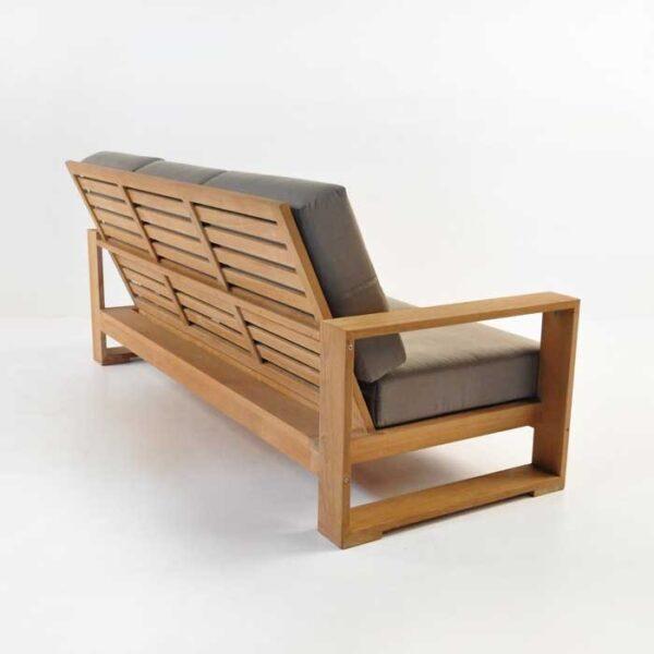 havana teak outdoor sofa back view