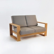 Havana Teak Outdoor Loveseat-0