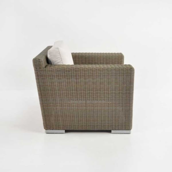 Henry outdoor wicker club chair side