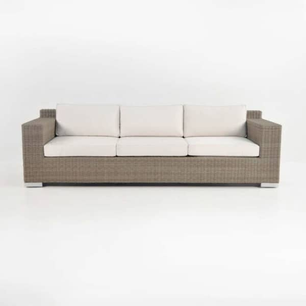 henry outdoor wicker sofa front
