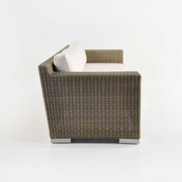 henry outdoor wicker sofa side