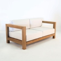 Ibiza Teak Outdoor Loveseat-0
