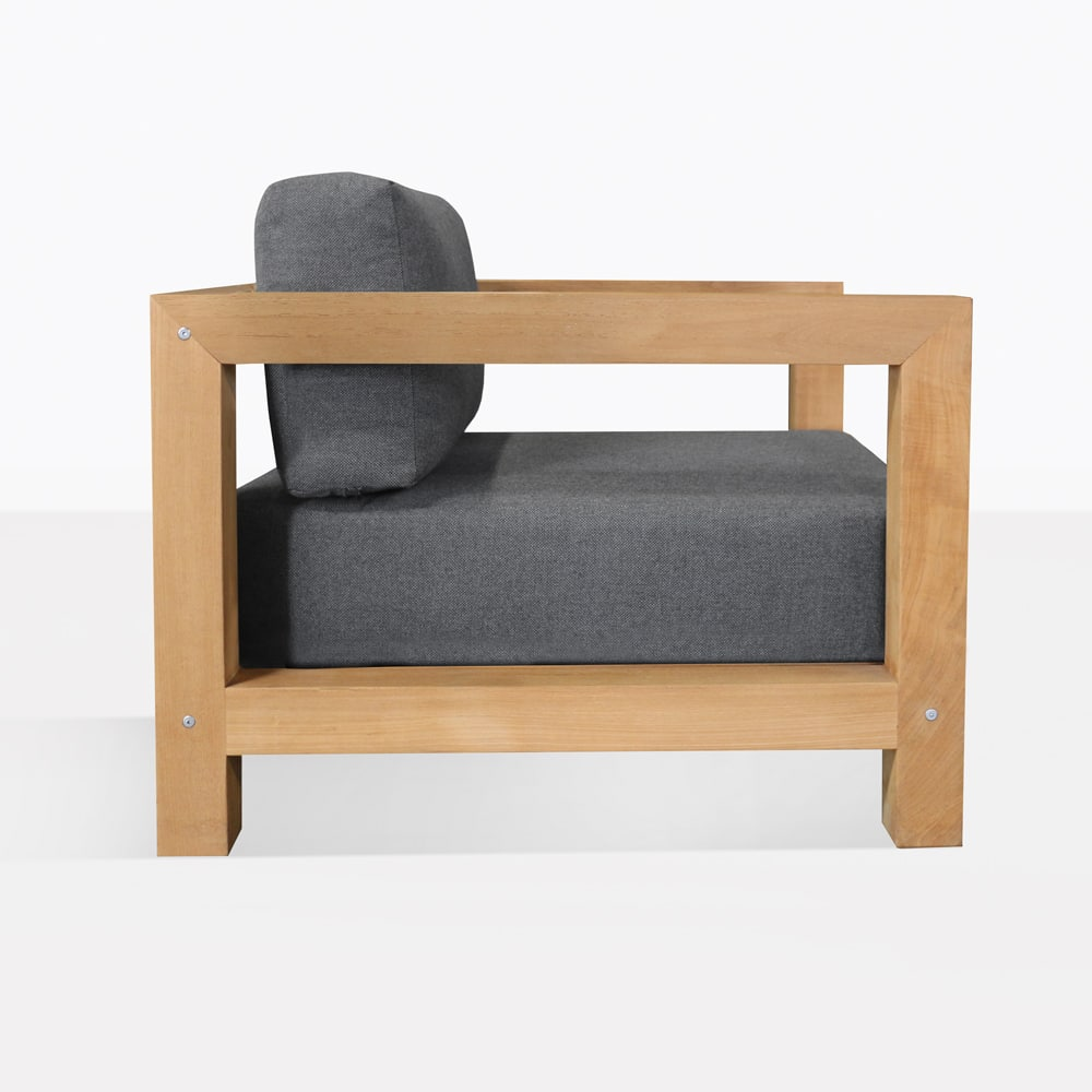 Ibiza Teak Outdoor Club Chair Patio Lounge Furniture