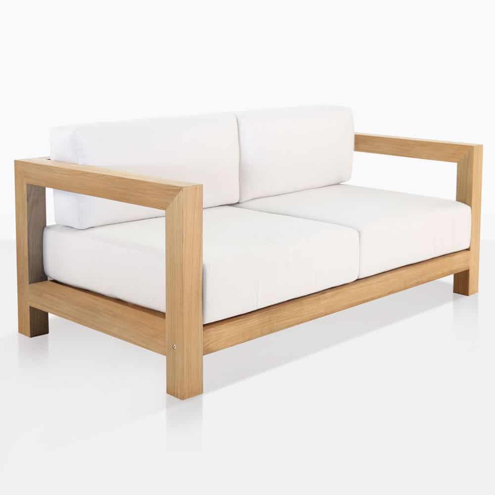 Ibiza Teak Outdoor Loveseat Patio Lounge Furniture Teak Warehouse