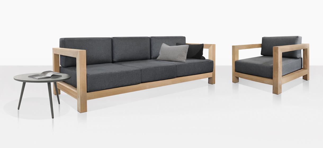 Ibiza A-Grade Teak Sofa And Club Chair