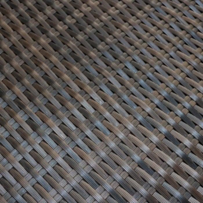 flat weave synthetic outdoor wicker