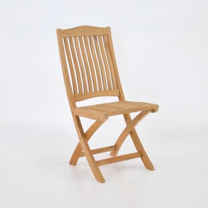 Kensington Teak Folding Dining Side Chair-0