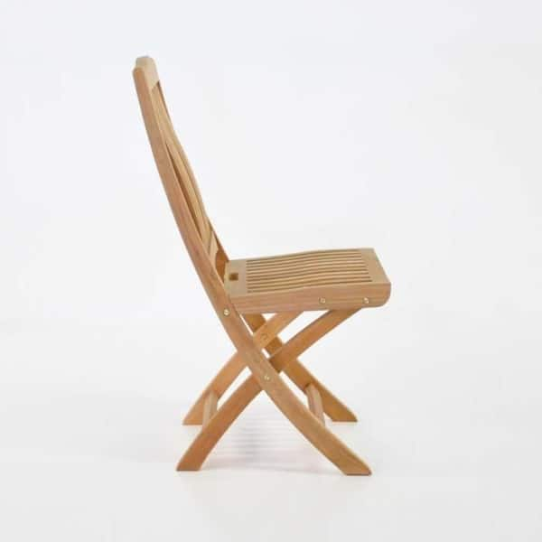 kensington folding dining chair side view