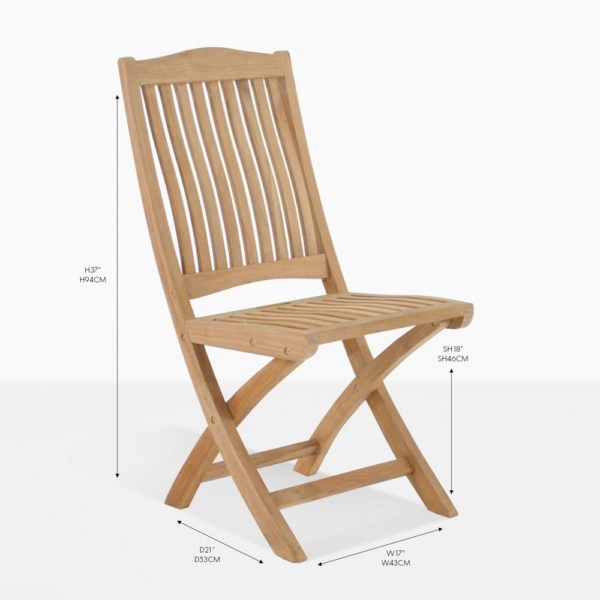 kensington folding teak chair